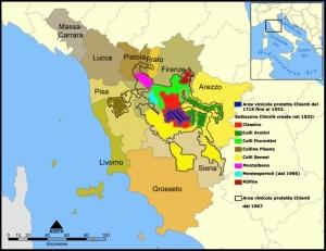 Tuscany, Italy map