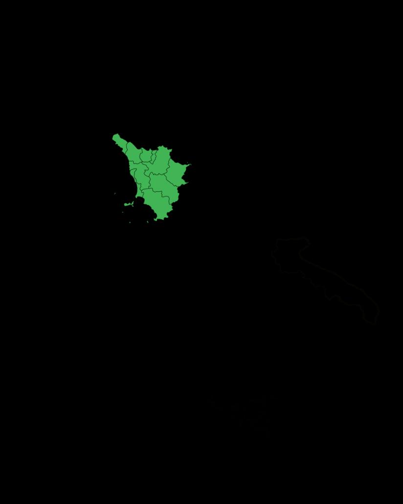 Costa Tirrenica Toscana Cartina.Dov E La Toscana In Italia Volognano