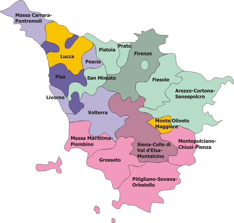 Mappa Regione Toscana