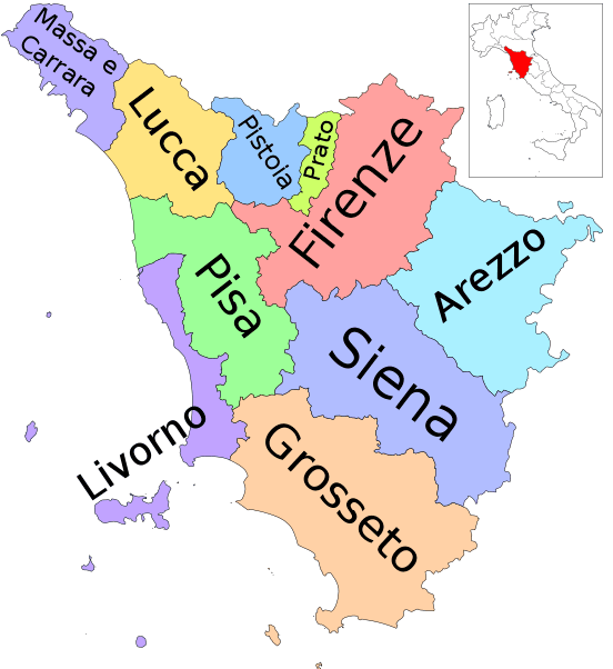 Map- where is tuscany