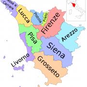 cartina Toscana - Mappa
