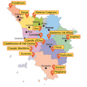 tuscany towns map