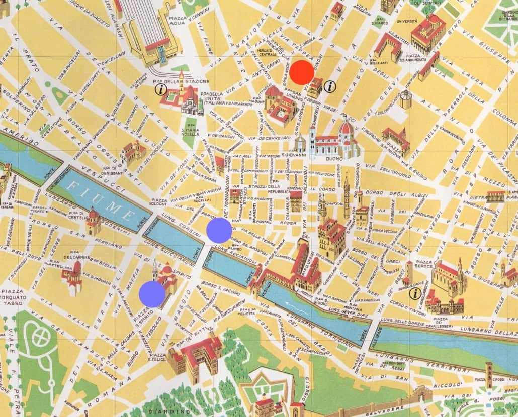 Capoluogo toscano: mappa