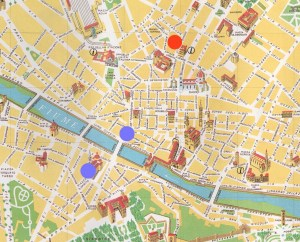 Capital of Tuscany: map