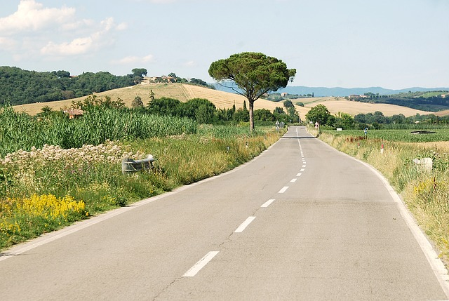 Milan to tuscany - road