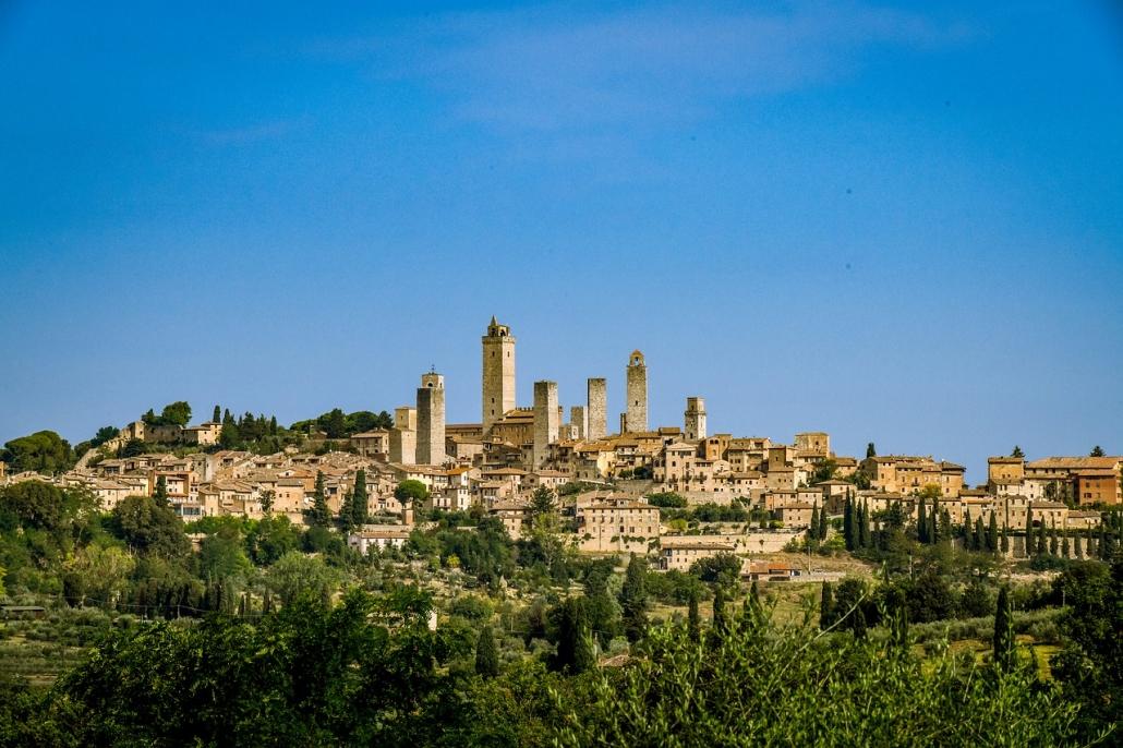 The little town of San Gimignano